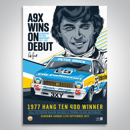 Peter Brock 40th Anniversary 1977 A9X Wins On Debut Print