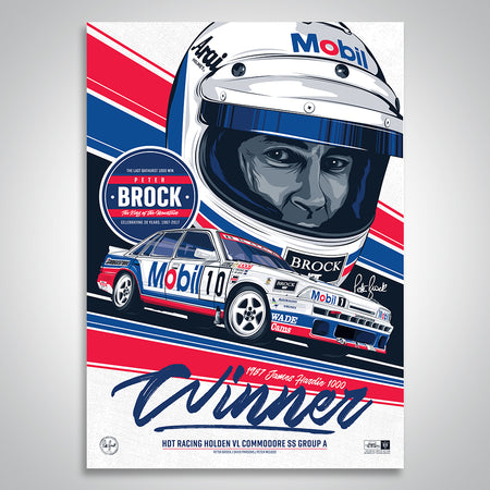 Peter Brock 30th Anniversary 1987 Bathurst 1000 Winner Print
