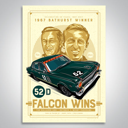 Fred Gibson 50th Anniversary 1967 Bathurst Winner Print