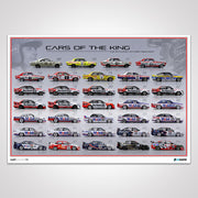 Cars Of The King, Brock's Bathurst Entries 1969-2004, Limited Edition Print (Pre Order)