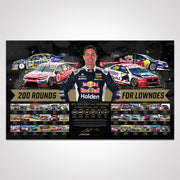 Triple Eight Race Engineering '200 Rounds For Lowndes' Signed Limited Edition Print (Pre-Order)