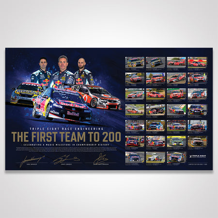 Triple Eight Race Engineering 'The First Team To 200' Signed Limited Edition Print (Pre-Order)