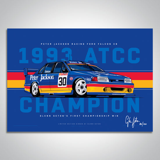 Glenn Seton First Championship Win Print - V8 Sleuth 2018 Bathurst 1000 Exclusive