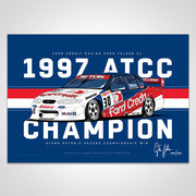 Glenn Seton 1997 Championship Winning Ford Credit Falcon EL Limited Edition Signed Print (Pre Order)