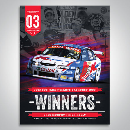 The Mountain Decades - 2003 Bathurst Winners Poster