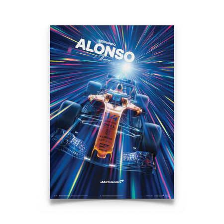 McLaren Fernando Alonso - Abu Dhabi 2018 Glow In The Dark U&L Edition Print