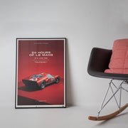 Ford GT40 1966 LeMans 24HR Red Print