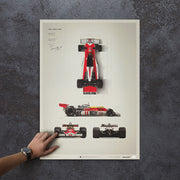McLaren M23 James Hunt 1976 F1 World Championship Winner Blueprint