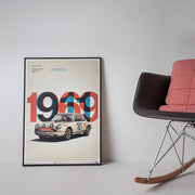 Porsche 911R 1969 Tour De France Automobile Print