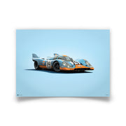 Porsche 917 Gulf 1971 LeMans 24HR Colors of Speed Print