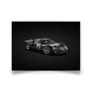 Ford GT40 Black 1966 LeMans 24HR Winner Colours of Speed Print