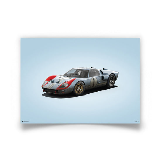 Ford GT40 Blue Colours of Speed Print