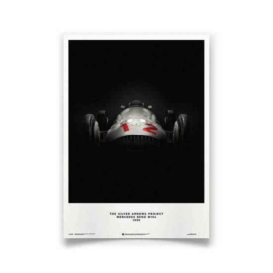 Silver Arrows Mercedes Benz W154 Print