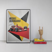 Ferrari F1-2000 Michael Schumacher 2000 F1 World Championship Winner - Germany Edition Print