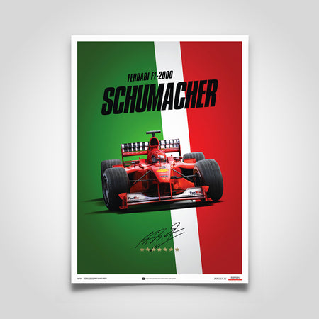Ferrari F1-2000 Michael Schumacher 2000 F1 World Championship Winner - Italy Edition Print
