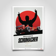 Ferrari F1-2000 Michael Schumacher 2000 F1 World Championship Winner - Japan Suzuka GP Edition Print