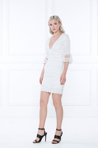 Empire Lace Mini Dress