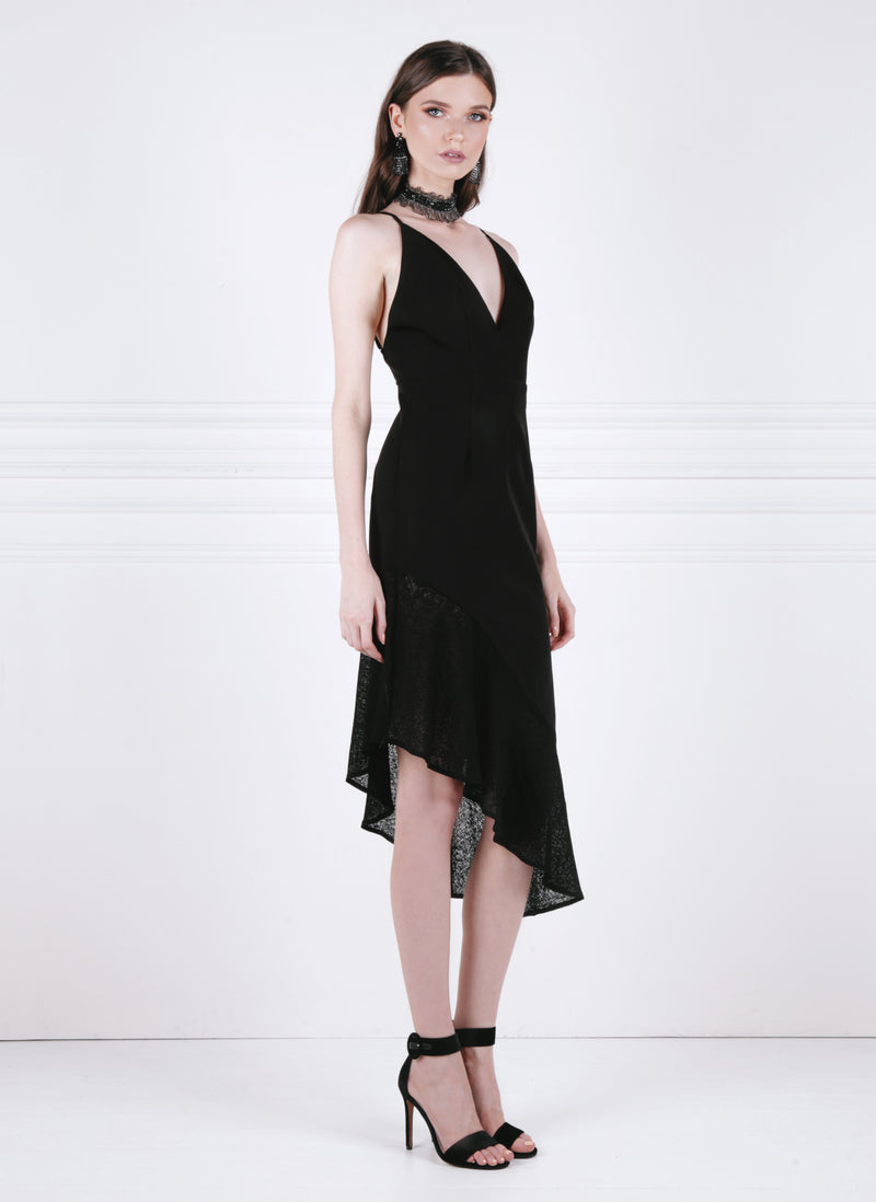 TREADING WATER MIDI DRESS