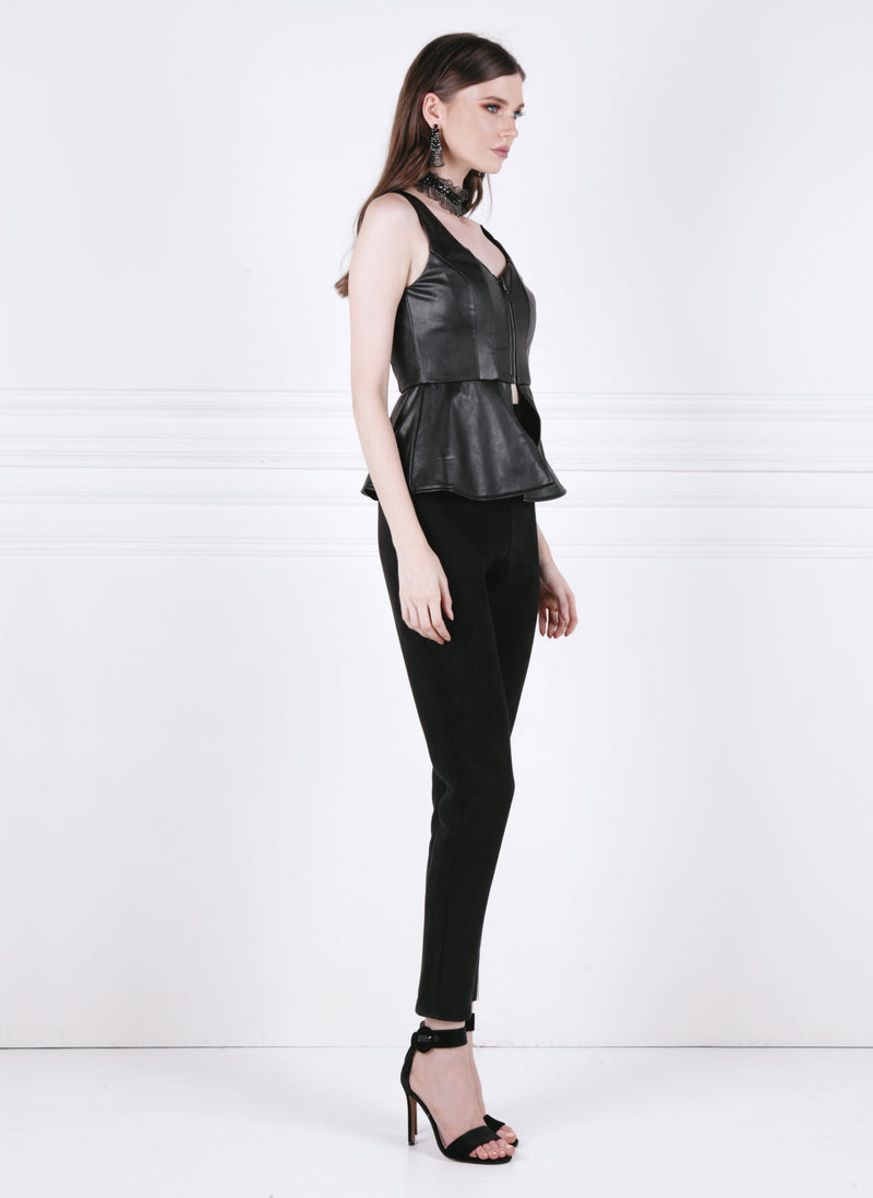 Segmented Peplum Top