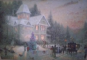 "Thomas Kinkade ""Family Christmas Eve"""