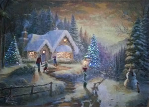 "Thomas Kinkade ""Country Christmas Homecoming"""