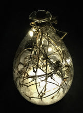 Rustic Glass Teardrop Lighted Ornament