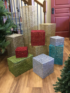Glitter Unfinished Boxes Steel Framed Various Sizes