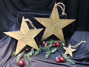 Wooden Stars Set of Three or Individual