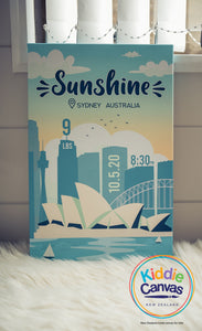 28. Sydney (personalized) artwork - KIDS CANVAS - by Arts of Hero