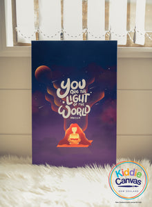 36. You Are The Light Of The World (Matt 5:14) artwork - KIDS CANVAS - by Nynja