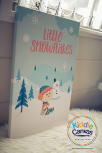 27. Snowflake artwork - KIDS CANVAS - by Arts of Hero