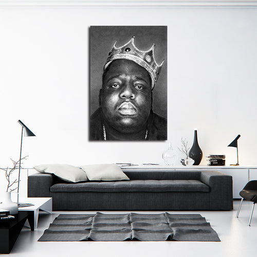 Biggie (b&w crown) By Artist Kuris Kuris Art