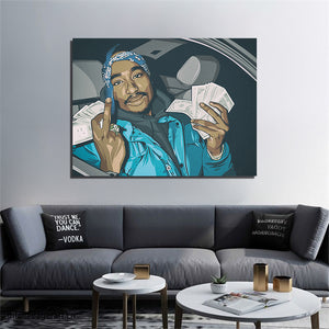 Tupac Blue artwork by Biko T