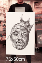 Tupac and Biggie scribble artwork by Anonymous