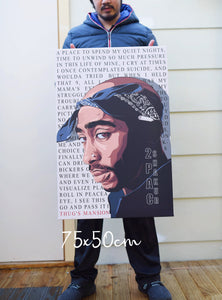 Tupac ( Thugs Mansion ) artwork by Code Zero Studio