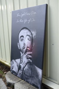 Mac Miller (smoke) artwork by Dan T