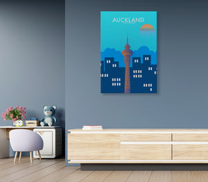 16. Auckland artwork - KIDS CANVAS - by Nynja