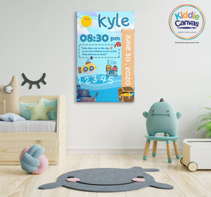 8. Sailboat (personalized) artwork - KIDS CANVAS - by Arts of Hero