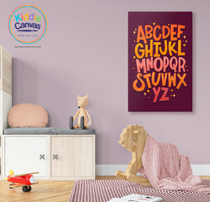 57. Alphabet artwork - KIDS CANVAS - by Nynja