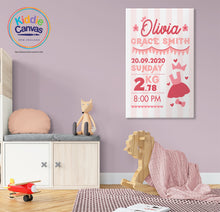 46. Details girl (personalized) artwork - KIDS CANVAS - by Nynja
