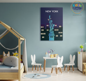 31. New York artwork - KIDS CANVAS - by Nynja