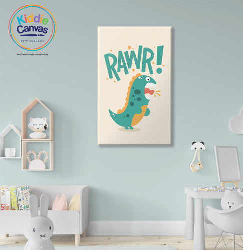 4. Rawr Artwork - KIDS CANVAS - By Nynja