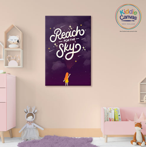 5. Reach for the sky artwork - KIDS CANVAS - by Nynja