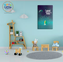 33. You Will Be Free (John 8:36) artwork - KIDS CANVAS - by Nynja