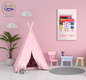 50. Popsicle artwork - KIDS CANVAS - by Arts of Hero