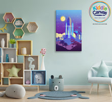 62. Spaceship artwork - KIDS CANVAS - by Arts of Hero