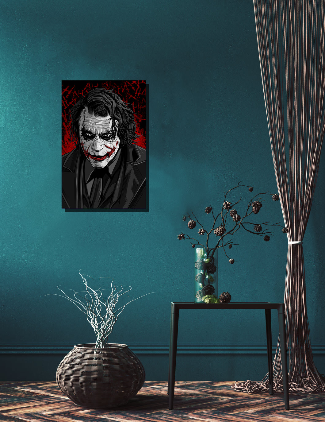 Joker (black 2) Artwork by Code zero Studio