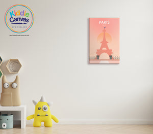 9. Paris artwork - KIDS CANVAS - by nynja