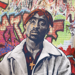Tupac graffiti by Zac art