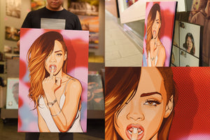 Rihanna ( Pop Art ) artwork by Nins Studio Art